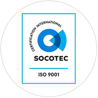 Certification ISO 9001 par Socotec